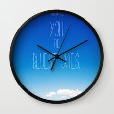Blue Skies Wall Clock