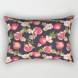Pomegranate patterns - floral roses fruit nature elegant pattern Rectangular Pillow