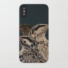 Digital Watercolor Birds Slim Case iPhone X