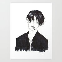levi Art Prints featuring •Levi• by ll-kao