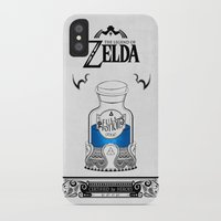 the legend of zelda iPhone & iPod Cases featuring Zelda legend - Blue potion  by Art & Be