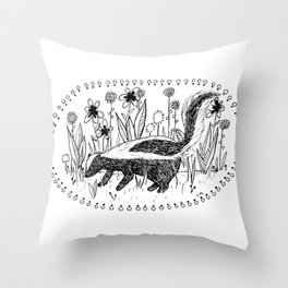 Skunk Throw Pillow