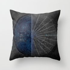 Circle Organization Throw Pillow