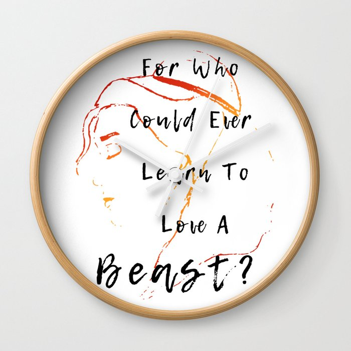 Belle Beauty And The Beast Wall Clock