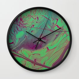 Acid Spill Wall Clock