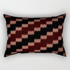 Dark, Red. Fuzzy. Static. Rectangular Pillow