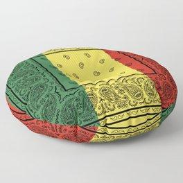 Rasta Bandana with Black Paisley Floor Pillow