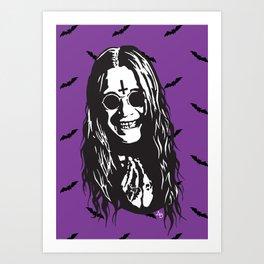 OZZY: Purple Sabbath Art Print