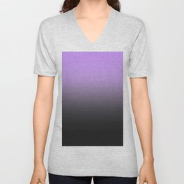 Lavender Gray Translucent Stripes Unisex V-Neck