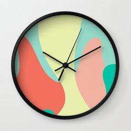 Liquid abstract design. Wall Clock