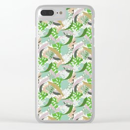 Tropical leaves Clear iPhone Case