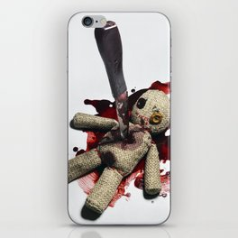 Sack Voodoo doll and bloody knife iPhone Skin