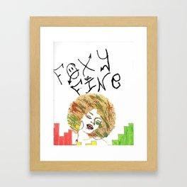 Foxy Fine Framed Art Print