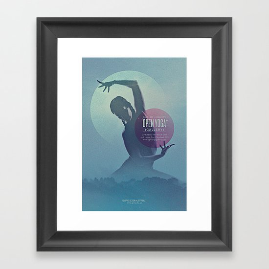 Open Yoga Gallery Framed Art Print
