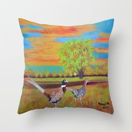 Country side (North Dakota) Throw Pillow