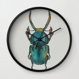Watercolour Beetle 1/3 Wall Clock