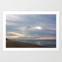 Cloudset Art Print