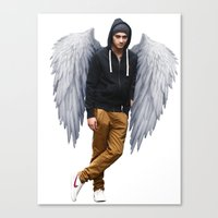 zayn Canvas Prints featuring Zayn by gutsngore