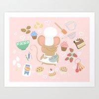 Baker Mouse - Pink Art Print