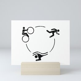 Triathlon Logo Mini Art Print