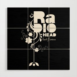 Radiohead song - Last flowers illustration white Wood Wall Art