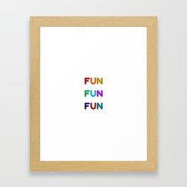 fun fun fun colorful design Framed Art Print