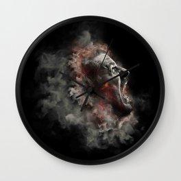 Burning face of man art Wall Clock