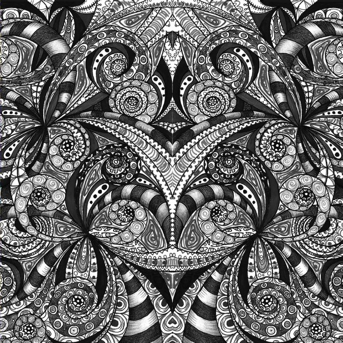 Drawing Floral Zentangle G6B Comforters