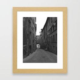 Siena, Italy. Framed Art Print