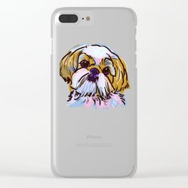 The Shih Tzu always keeps me smiling! Clear iPhone Case