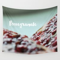 pomegranate Wall Tapestries featuring Pomegranate by Ane Irisarri