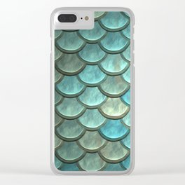 Mermaid Scales Clear iPhone Case