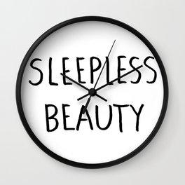 Sleepless Beauty Wall Clock