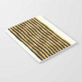 Zen Stripe Block Print Mustard Notebook