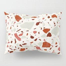 Abstract Brown Terrazzo Pillow Sham