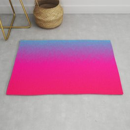 Blue purple and pink ombre flames Rug