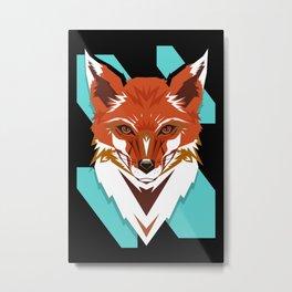Red Fox GeoDesign - Artwork by Brandon F. Ottenbacher Metal Print