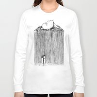 rain Long Sleeve T-shirts featuring rain by Gerard Russo