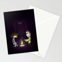 Frisk and Asriel Stationery Cards