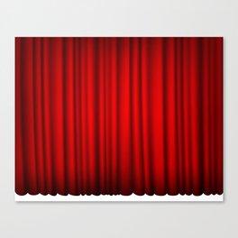 red silk curtains Canvas Print