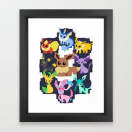 eevee evolutions Framed Art Print