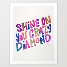 Shine On Your Crazy Diamond – Vintage Palette Art Print