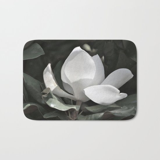 Desaturated Magnolia Flower Bath Mat