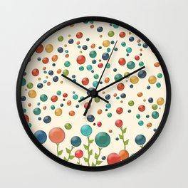 The Gum Drop Garden Wall Clock
