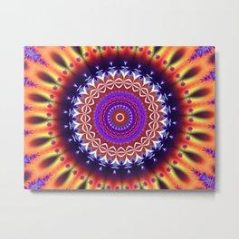 Jewel Mandala Metal Print