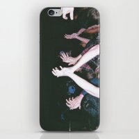 it crowd iPhone & iPod Skins featuring Crowd by ryanholquin