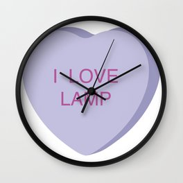 Brick Tamland Conversation Heart Wall Clock