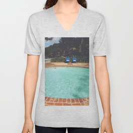 Two Chairs at the Pool Unisex V-Neck