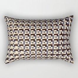 leigh - tan beige black ivory indigo geometric mosaic pattern Rectangular Pillow