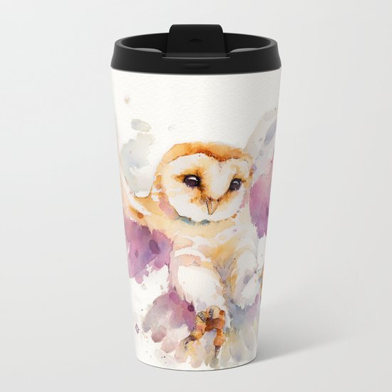 Twilight Owl Metal Travel Mug